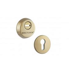 Протектор Mul-T-Lock  SL3 DIN ROUND 14,5мм 89мм Латунь полированная 3 класса SHINY BRASS Комплект, М6x100