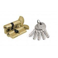 Цилиндр Fuaro 100 DM/RC 68мм (26х10х32) PB 5 ключей ключ/поворотник