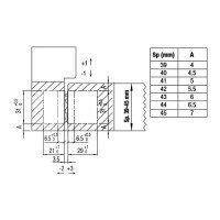 Петля скрытая K8000 F1 хромированная матовая 180 ° нагрузка до 60 кг на две петли